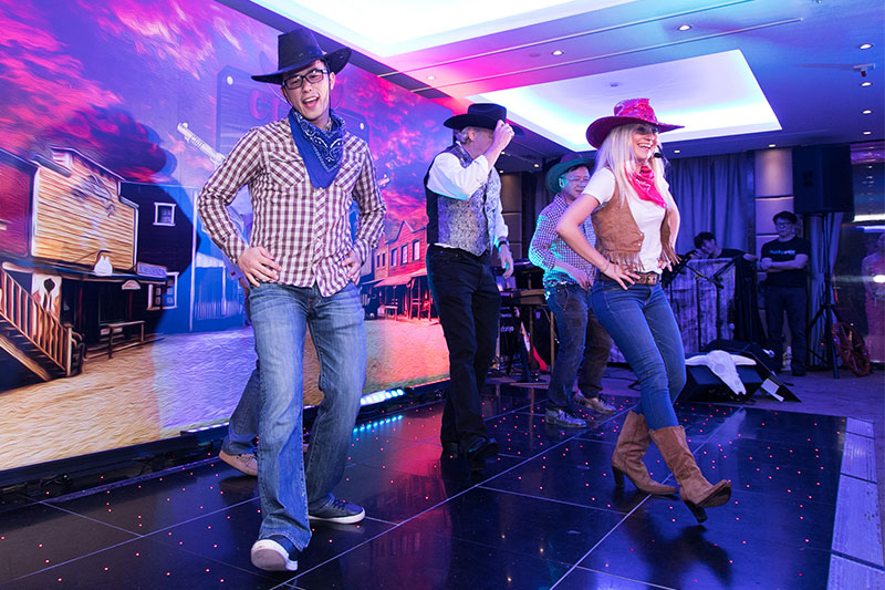 Wild West themed Birthday Party Hong Kong with line dance teaching