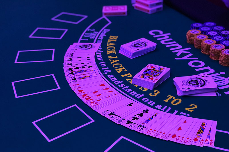 Casino games at Wild West Themed birthday party
